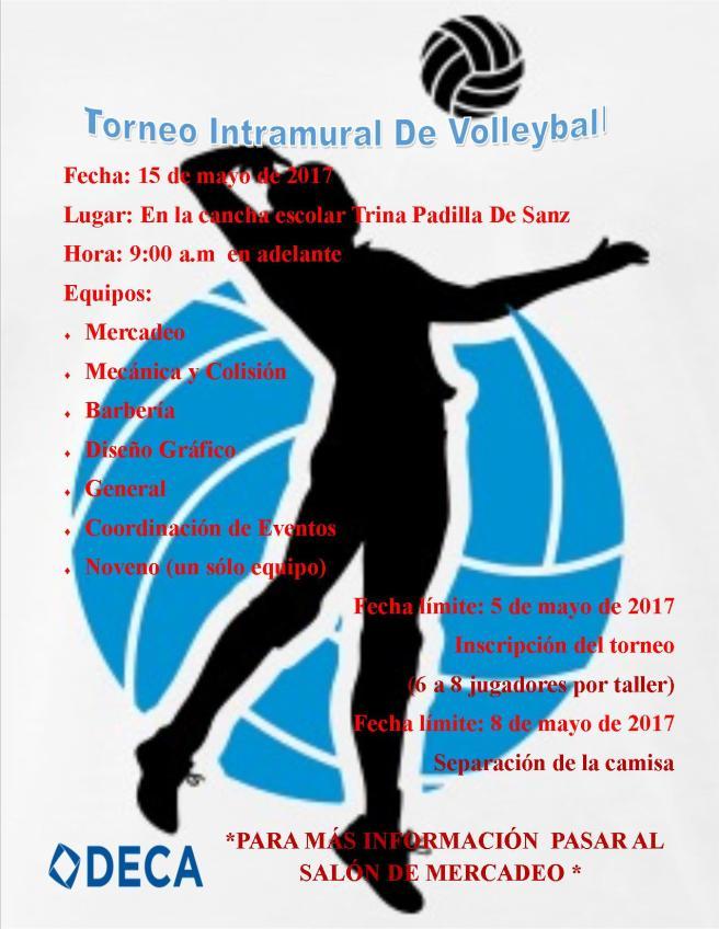 Torneo de Volleyball DECA mayo IMAGEN